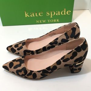 Kate Spade  Too blush / Fawn Leopard Pumps Size 5